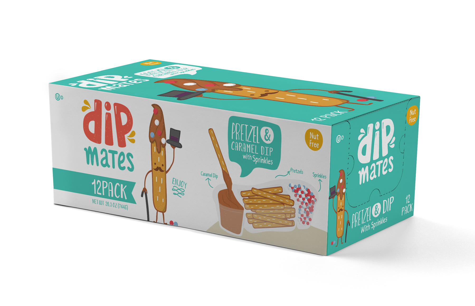 Branding and Packaging snack design for Dipmates