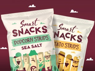 Packaging and branding design for Smart Snacks