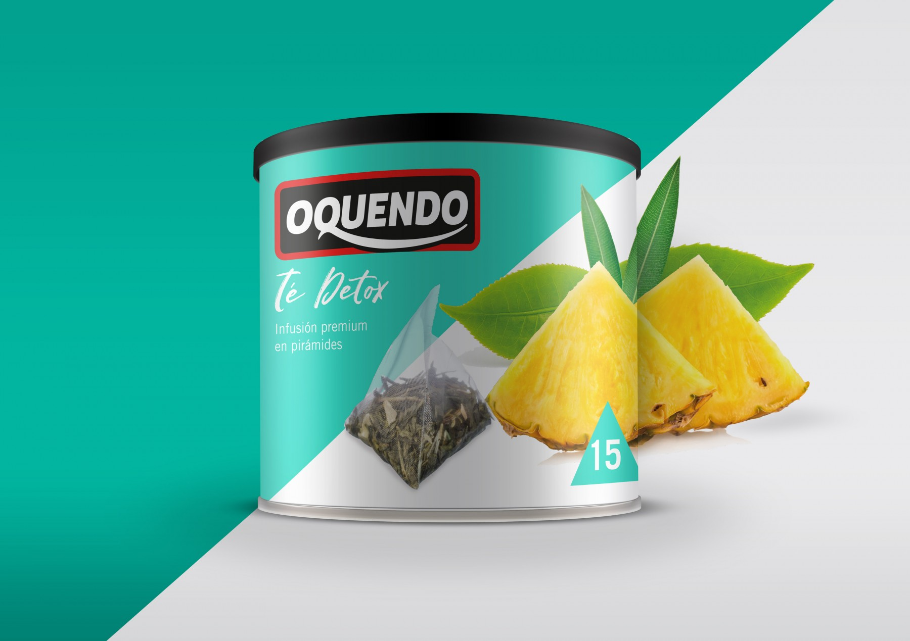 packaging design for Oquendo coffee Premium teas