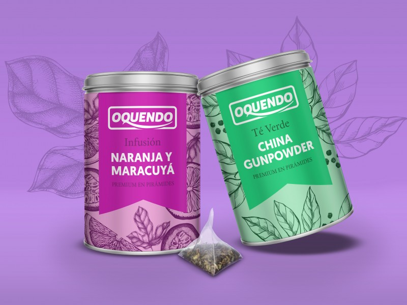 Tea Packaging design for Oquendo coffee