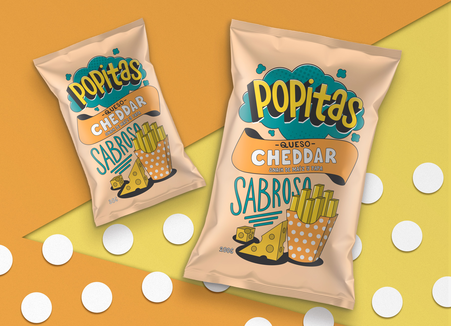 Branding and Packaging design for Popitas brand