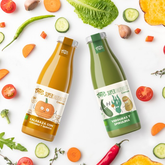 Packaging design for SuperSaludables brand