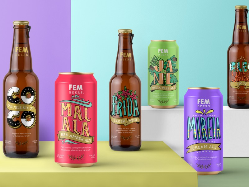 Branding and Packaging design for Fem brand
